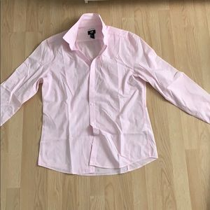 h&m pink button down
